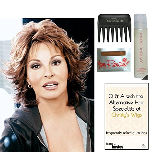 Bundle - 5 items: Breeze by Raquel Welch Wig, 15 Page Christy's Wigs Q & A Booklet, Wig Shampoo, Wig Cap & Wide Tooth Comb (Color Selected: ) Color Selected: R6/30H by Raquel Welch & Christy's Wigs