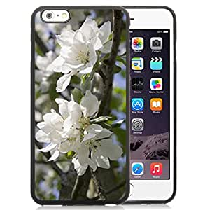 Fashionable Designed Cover Case For iPhone 6 Plus 5.5 Inch With White Apple Blossoms Flower Mobile Wallpaper Phone Case