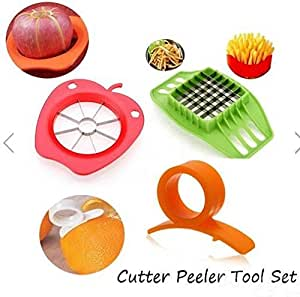 Fruit Vegetable Chopper Cutter Peeler Tool Set by Abcstore99