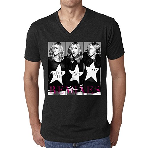 madonna-give-me-all-your-luvin-party-rock-remix-men-tees-v-neck-black