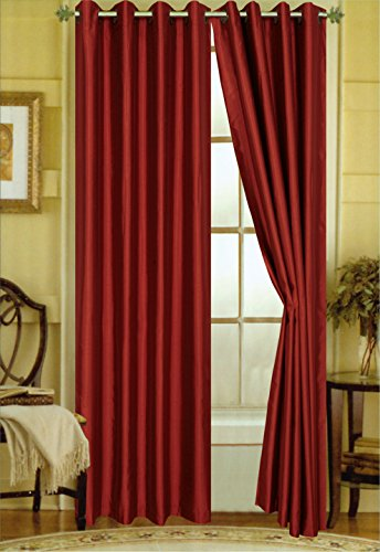 Cinnamon Silk (Editex Home Curtain Faux Silk Panel with Grommets, 108