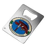 Bottle Opener - Stainless Steel - Fits in wallet - US Joint Special Ops Task Force-Arabian (CJSOTF-AP)