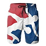 Oct USA Wrestling Logo with Liner Mens Boardshorts Swim Trunks Tropical Running Board Shorts Bathing Swim Trunks