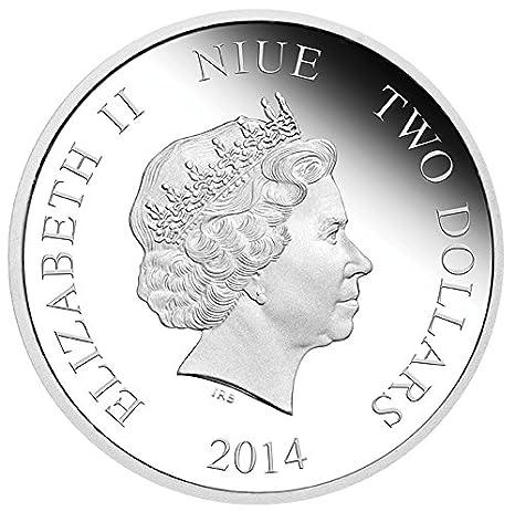 Goofy 1 Oz Silver Proof Coin Niue 2014 $ 2  Disney Mickey /& Friends 2014