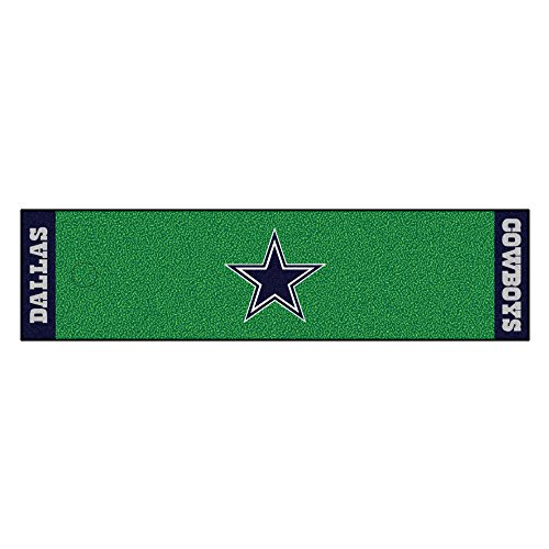 Fanmats NFL Dallas Cowboys Nylon Face Putting Green Mat (Cowboys Runner Mat)