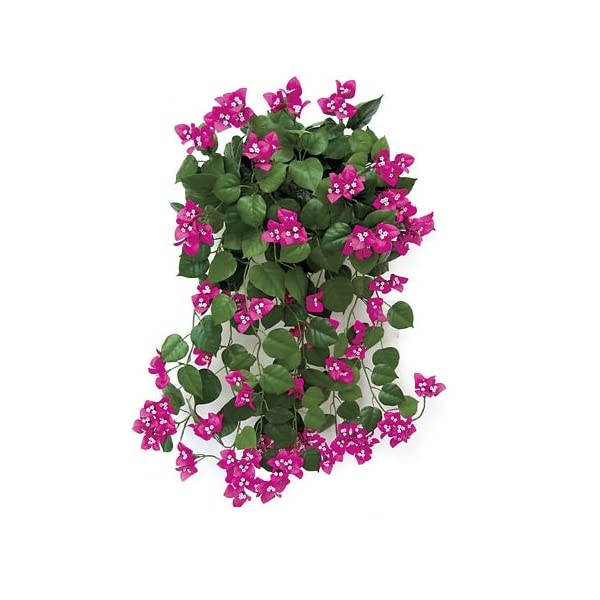 Windowbox 36in. Artificial Bougainvillea-Pink-fire Retardant