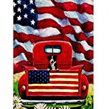 Newkelly Truck Puppy Garden Flag 12.5 x 18inch Garden Yard Flower...