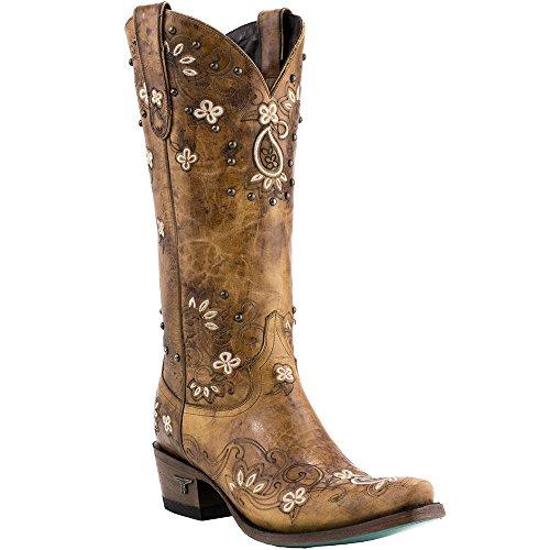 Lane Womens Sweet Paisley Boot Snip Toe Teen - Lb0349a Tan