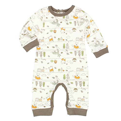 Winnie the Pooh Baby Boys Coverall Romper (6-9 Months, Pooh Bear Cream)