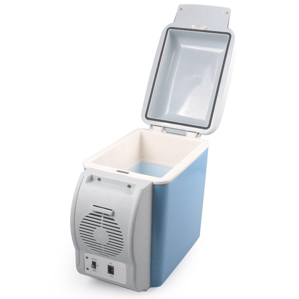 Ruilasa Auto Kühlschrank 7,5l 12 V Camping Tragbare Reise Kühlschrank Kühler wärmer Heizung Multifunktions Electric Kühlschrank Mini Kühlschrank Kühlbox