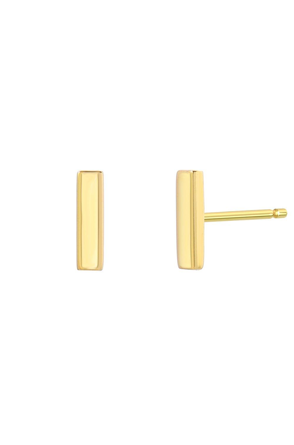 14k gold bar stud earrings, Zoe Lev Jewelry