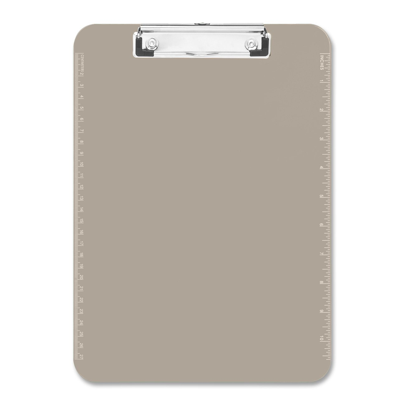 Sparco Plastic Clipboard, with Flat Clip, 9 x 12 Inches, Smoke (SPR01870) S.P. Richards Company