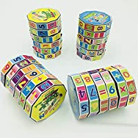 Foreen Magic Colorful Cubes Cylinder Puzzle Math Learning Early Educational Kids Toy Best Gift for Children