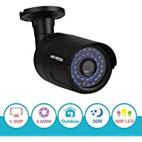HISVISION 1/3 960P AHD Camera ONLY WORK WITH AHD Compatible DVR Night Vision Security Camera,3.6mm Lens 36 LEDs CCTV Camera w/ IR CUT,1.3MP AHD Indoor/Outdoor Security Camera PK 720P (Metal Casing)