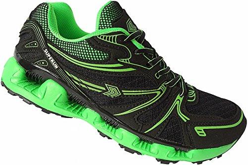 Herren Laufschuhe Sportschuhe Turnschuhe Sneaker Schuhe Gr.41 - 46 Art.-Nr.5537 schwarz-grün