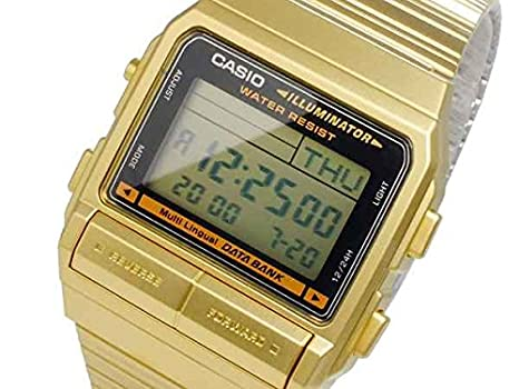 f06114a7ea Amazon | CASIO DATA BANK (カシオ データバンク) DB-380G-1D/DB380G ...