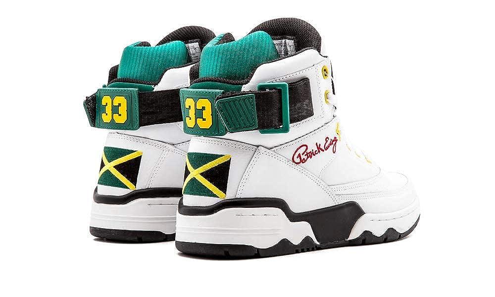 newest collection 02871 c2d54 Amazon.com   PATRICK EWING Athletics 33 HI White Black Green Yellow Jamaica  OG 1EW90014-112   Shoes
