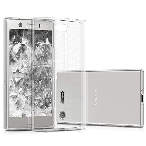 kwmobile Crystal Case Compatible with Sony Xperia XZ1 Compact - Soft Flexible TPU Silicone Protective Cover - Transparent