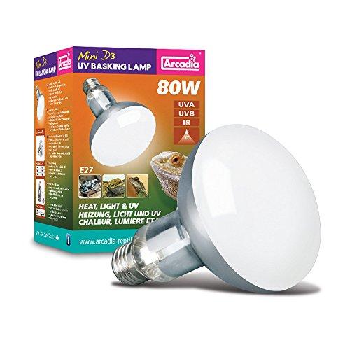 Arcadia One Light (Arcadia Products D3 UVB Basking Lamp (80 Watt) (Metal))