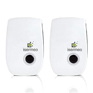 Isermeo Repelente Ultrasónico, Plagas Control Interiores, Repelente Mosquitos Electrico - Insectos, Hormigas,