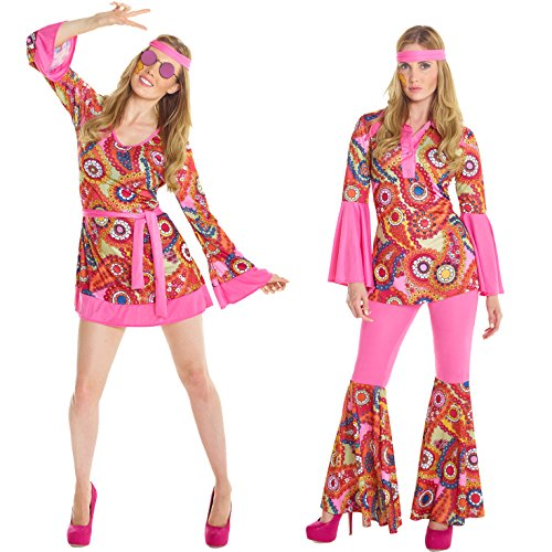 Womens 1960s Flower Child Hippie Costume Costume