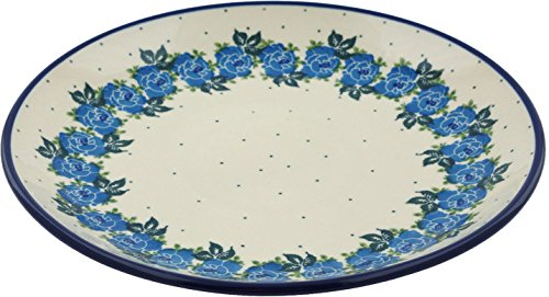 - Polish Pottery Lunch Plate 10-inch Blue Garland