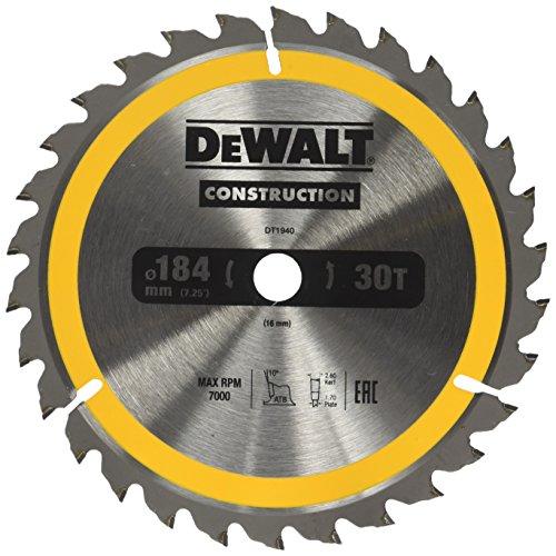 "Price comparison product image Dewalt DT1940-QZ 7.2"" / 16mm 30WZ Portable Circular Saw Blade"