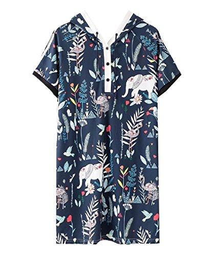 Coolred-femmes Bouffante De Juniors Sweat-shirt À Taille Plus Fleur Mini Robe Imprimée Comme Image