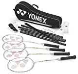 Yonex Badminton Sports 4 Player Set (racket,shuttles,net,post,& Carry Bag) Only