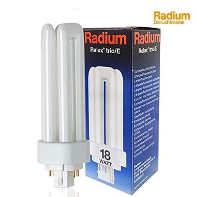 blanc chaud G24q-2 18W Lampe fluorescente compacte Radium Ralux Trio//E Culot GX24q // 830