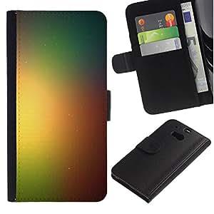 // PHONE CASE GIFT // Moda Estuche Funda de Cuero Billetera Tarjeta de crédito dinero bolsa Cubierta de proteccion Caso HTC One M8 / Rainbow Space Galaxy /