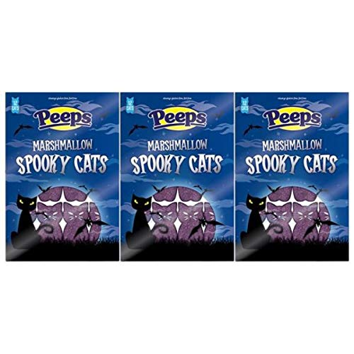 Halloween Candy Peeps Marshmallow Spooky Cats, 12 Count 3.375 oz. Pack (Pack of