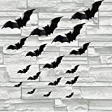 complex Halloween Decorations 152pcs Halloween Bat Wall Decals Stickers,Extra Large 3D Bats for Wall Window Mirror Decals, Do