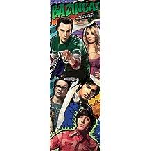 Posters: The Big Bang Theory Door Poster - Bazinga Comic (62 x 21 inches)
