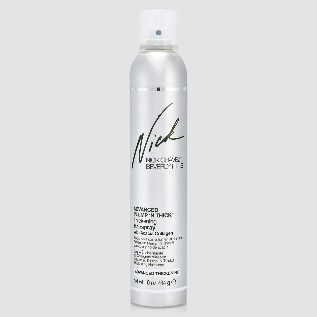 Nick Chavez Beverly Hills Advanced Plump 'N Thick Thickening Hairspray - Professional Hair Thickener For All Hair Types - Increase Hair Volume And Strengthen Hair - 10 Fl Oz.