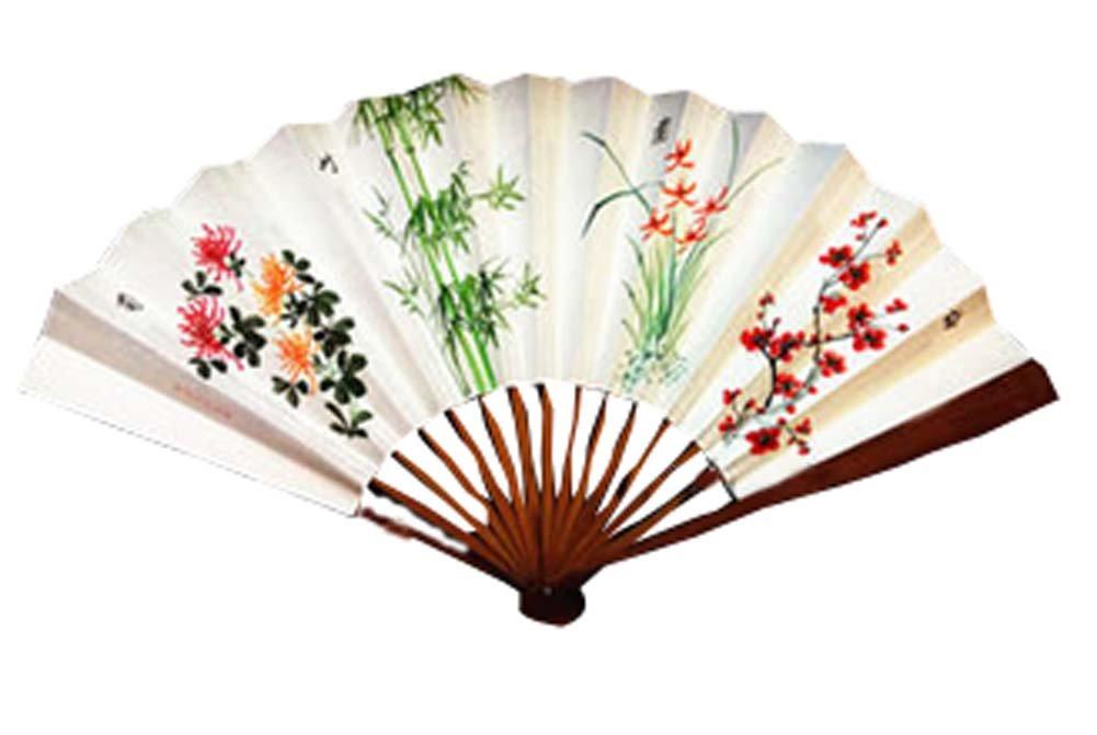 Panda Superstore Folding Fan Hand Held Fans Folding Fans Hand Held Fan Chinese Fan Hand fans