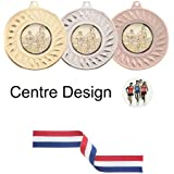 SPECIAL OFFER 10 x 50mm Running/Athletics Medals with Ribbons