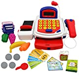Naladoo Pretend Play Electronic Cash Register Toy Realistic Actions & Sounds With Mic