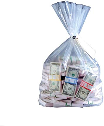 MMF Industries Currency Deposit Bags 19 x 36 Inches 206410720 100 Per Box Clear