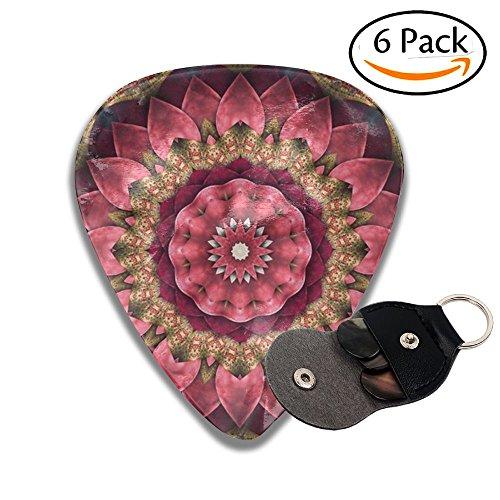 Heavy Pink Mandala Pattern Colorful Celluloid Guitar Accessories/parts Bass Guitar Picks 0.46mm 0.71mm 0.96mm Girls 6 Packs (Sampler Spiritual)