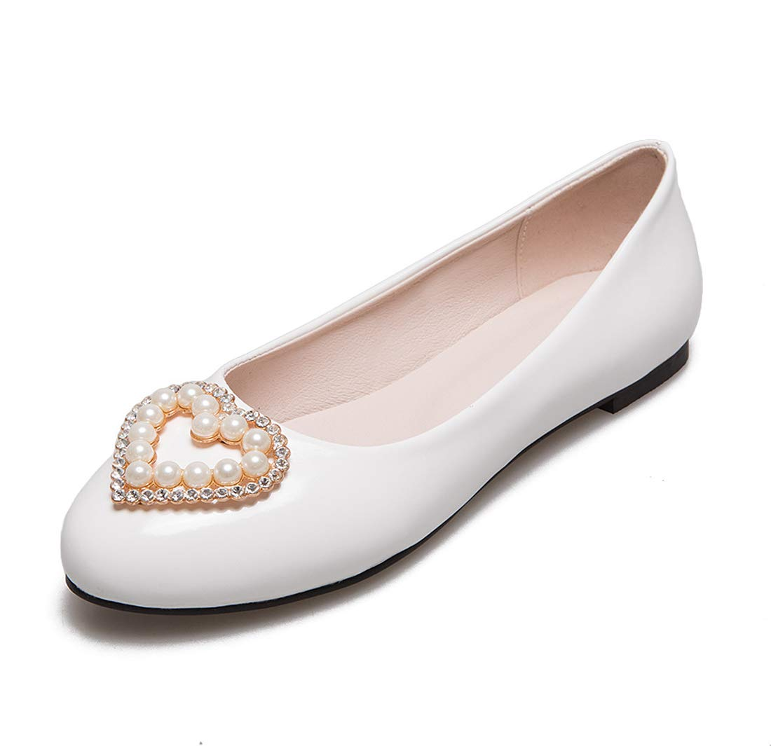 SERAPH 17-6 Chaussures 17-6 Femmes Perles Détails B000W069PS Ballerines Dames Bateau Pompes Dolly Chaussures White b34a92a - therethere.space
