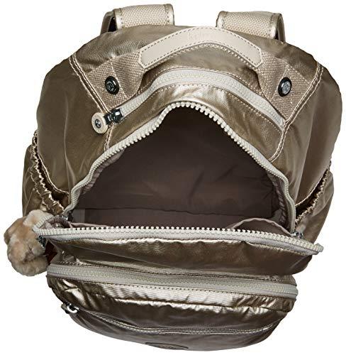 Kipling Seoul Go Laptop, Padded, Adjustable Backpack Straps, Zip Closure, Cloud Grey Metallic, One Size