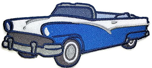Classic Cars Collection [1956 Ford Sunliner ] [American Automobile History in Embroidery] Embroidered Iron On/Sew patch [6.87