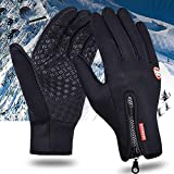 Qiaoden Winter Men Women Touch Screen Windproof Warm Outdoor Sport Driving Skiing Gloves