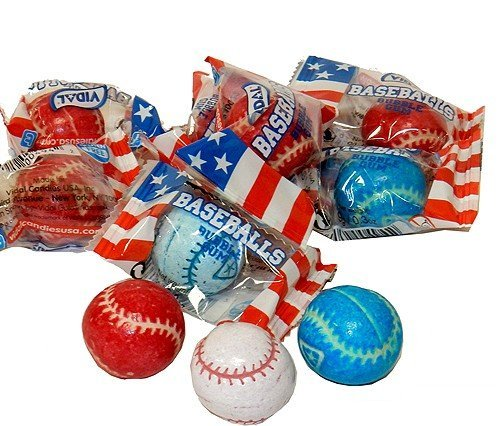 - Baseball Bubble Gum Balls Individually Wrapped 60 Pieces