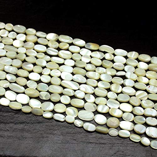 Pearl Bead Mother Of Briolette (5 Strand Natural Mother of Pearl Smooth Oval Gemstone Loose Craft Beads 14