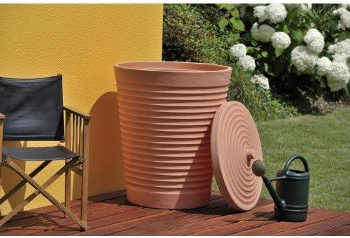 TECHNIK 275L Toscana Terracota estilo de agua con depósito – al aire libre jardín riego – lluvia: Amazon.es: Jardín