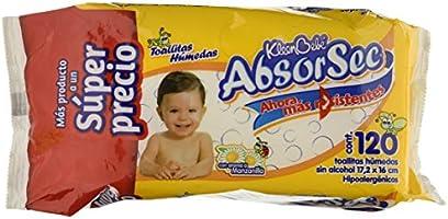 KIeenBebé Absorsec, Toallas Húmedas para Bebé, 120 Toallas