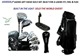 AGXGOLF Ladies Left Hand Magnum NXT Complete Golf Club Set w/Ladies Bag & Free Putter: Petite, Regular or Tall Length; Fast Shipping