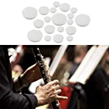 Comidox 17pcs/Set Clarinet Leather Pads for